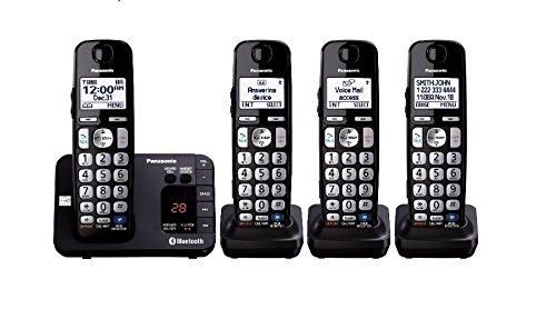 Panasonic Link2Cell Expandable Cordless Phone with Amplified Volume - 4 Handsets