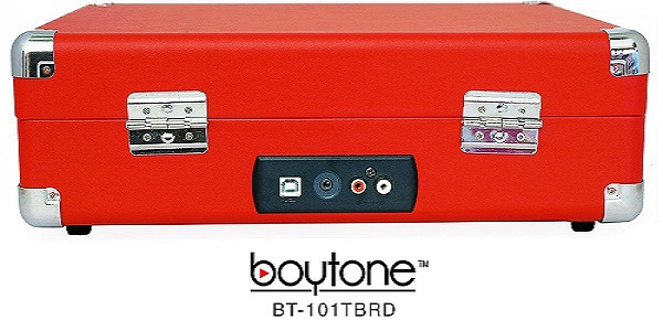 BOYTONE BT-101TBRD 5 in 1 Boytone BT-101TBRD Briefcase Record Player AC-DC Built in