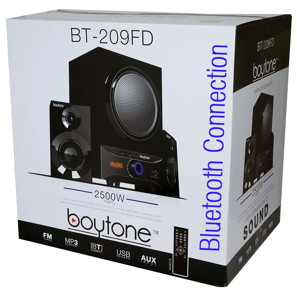 Boytone BT-209FD Wireless Bluetooth Main unit, Powerful Sound & Bass, 30 watt, excel