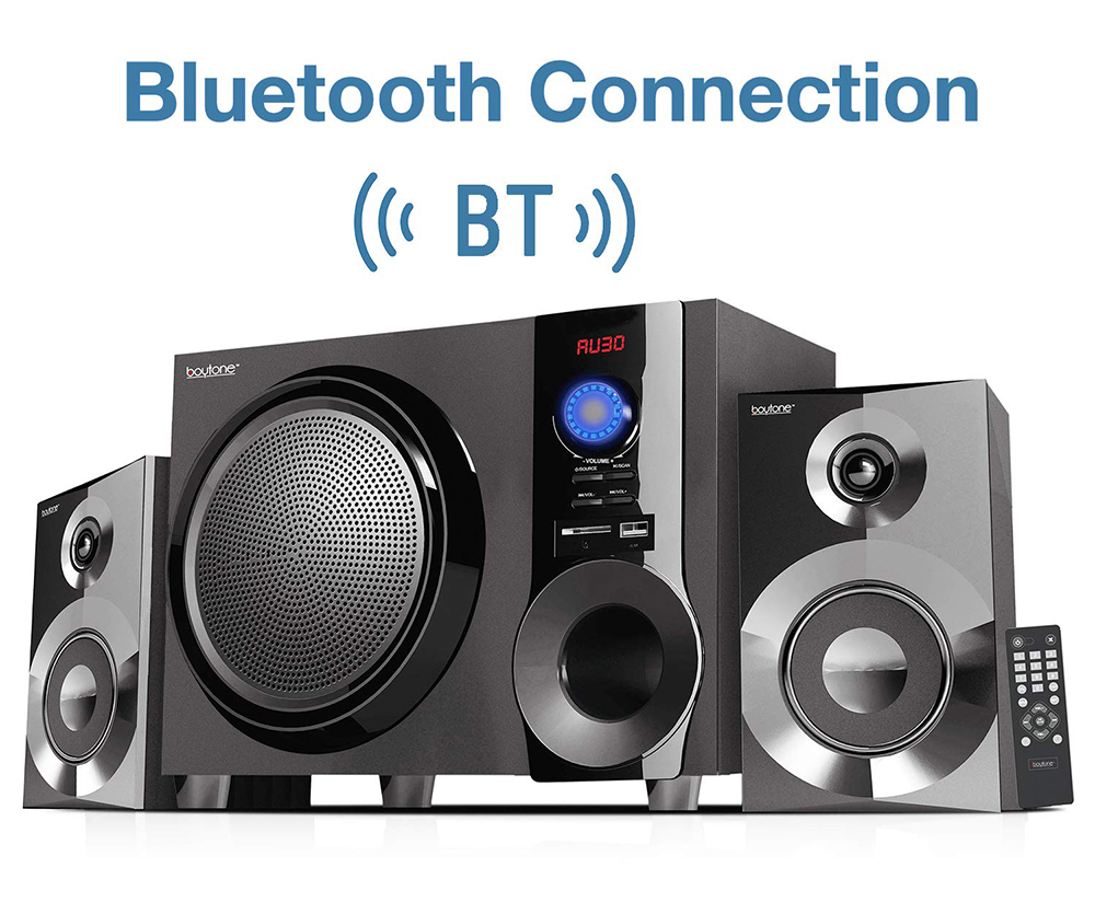 Boytone BT-225FB Wireless Bluetooth 30-Watt Speaker System with FM Radio
