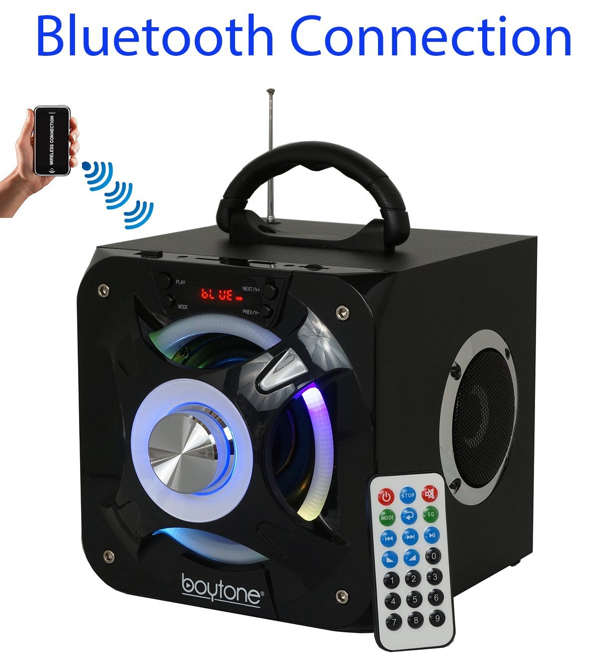 Boytone BT-32D Portable Bluetooth FM Radio Stereo speaker System, USB Port | SD card