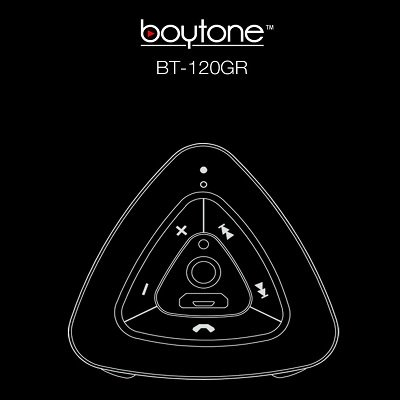 Boytone BT-120GR Ultra-Portable Wireless Bluetooth Speaker - Gunmetal Gray