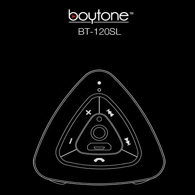Boytone BT-120SL Ultra-Portable Wireless Bluetooth Speaker - Arctic Silver