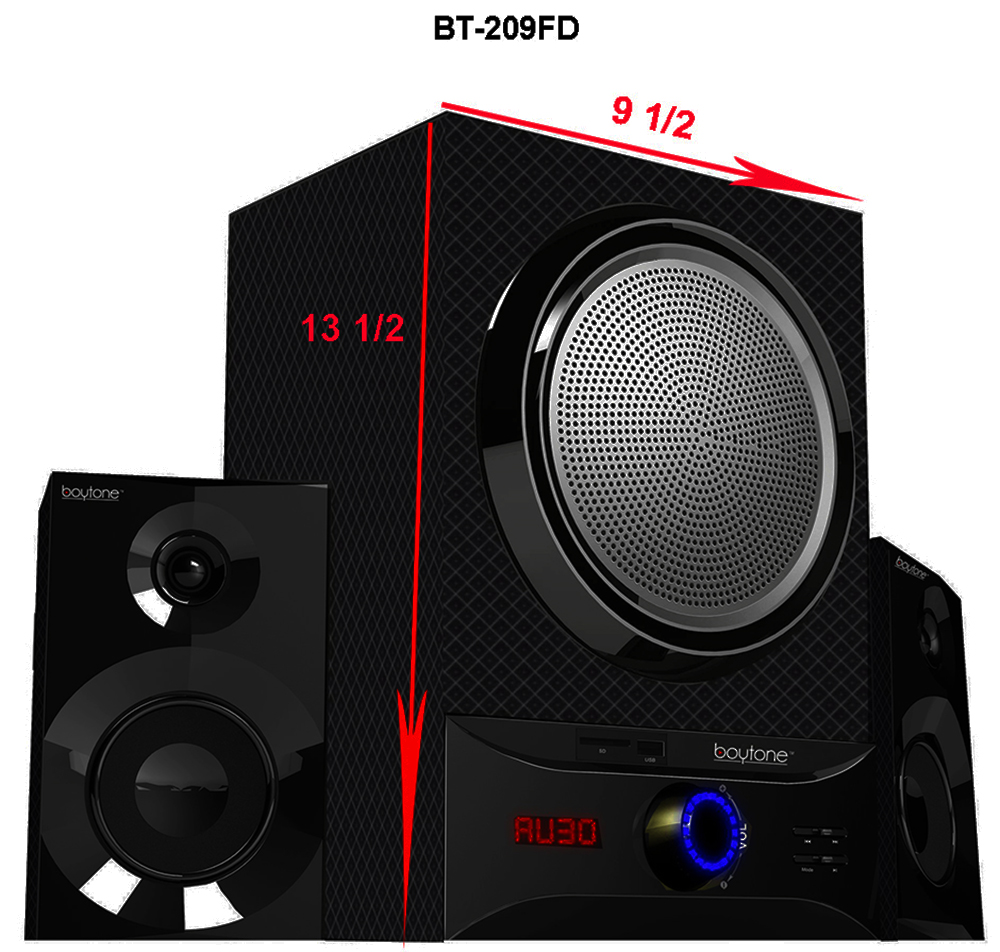 Boytone BT-209FB Wireless Bluetooth Speaker Powerful Bass System with FM