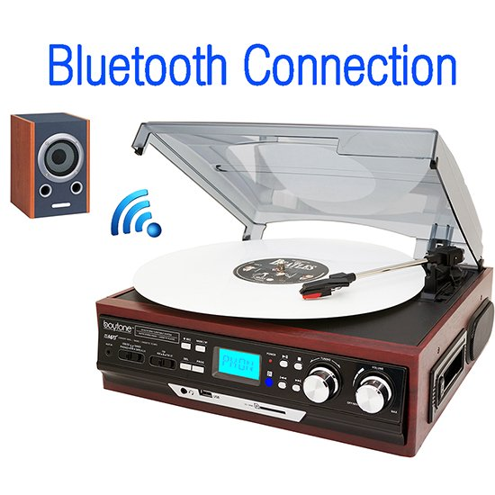 Boytone BT-37M-C, Connect Wirelessly to Bluetooth Speaker Devices 3-speed Stereo Tur