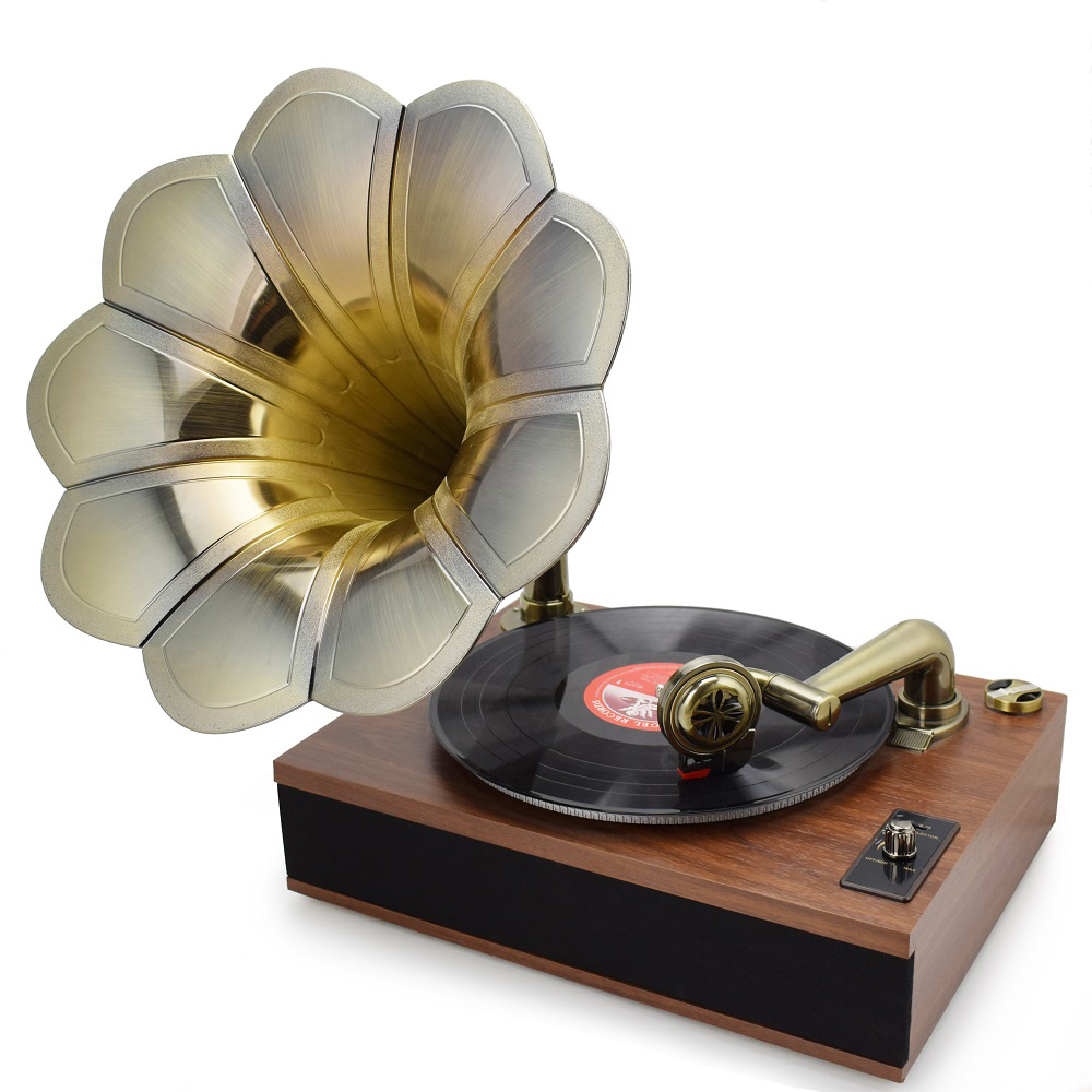 Boytone BT-388 limited Edition Bluetooth 3-Speed Stereo Turntable with Classic Horn