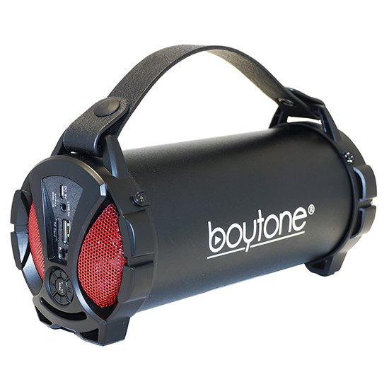 Boytone BT-38RD Portable Bluetooth Indoor/Outdoor Speaker 2.1 Hi-Fi Cylinder Loud Speaker with Built-in 2x3 Sub