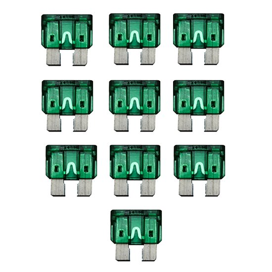 MINIF30 10 Pack Mini Fuses ATM 30 Amp Automotive 30A