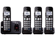 Panasonic Expandable Cordless Phone with Large Keypad - 4 Handsets