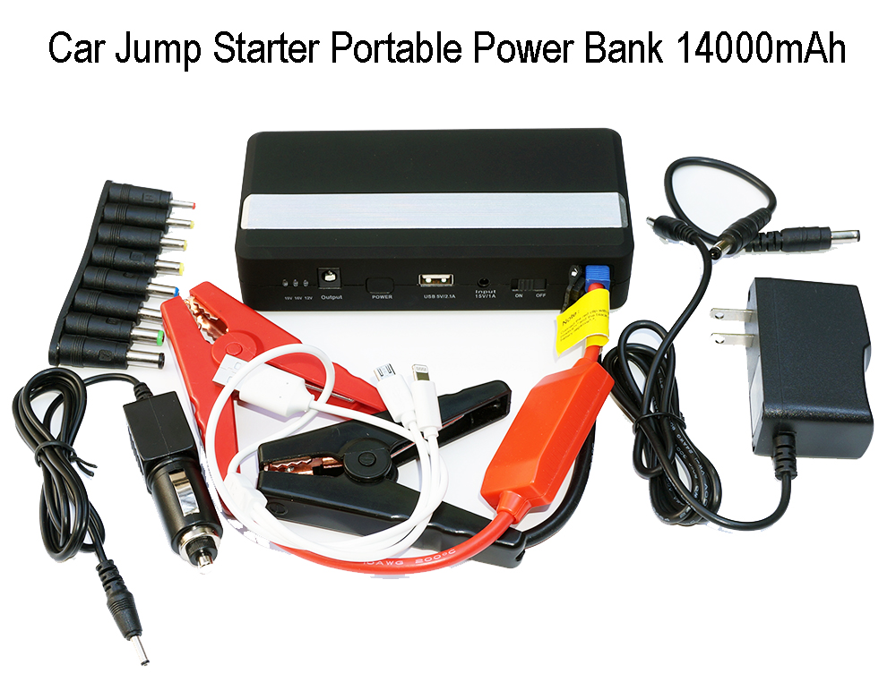 Car Jump Starter BR-KO5, Portable External Power Bank 14000mAh