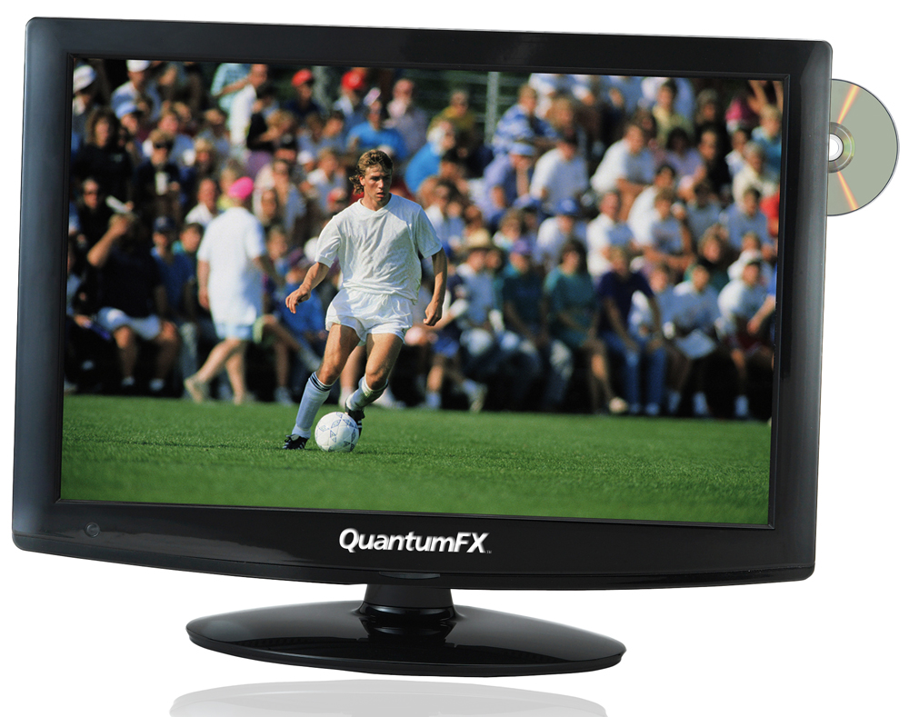 "QFX LED1912D - 19"" LED TV WITH ATSC/NTSC TV TUNER W/DVD"