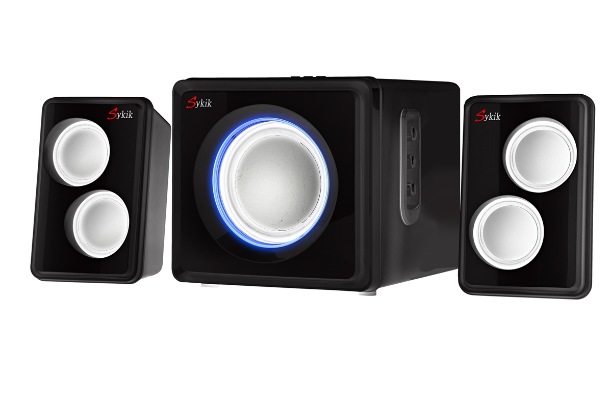 Sykik SP0232BK Bluetooth Stereo System, Black