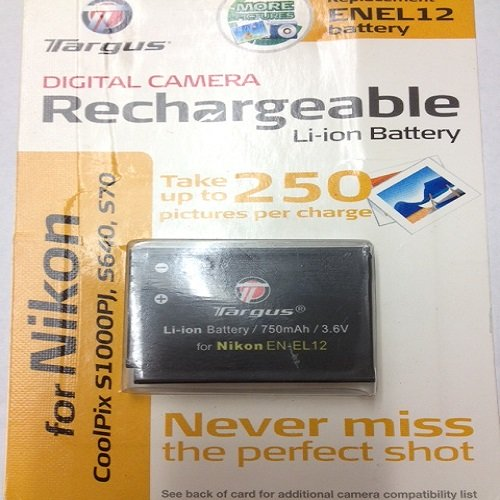 Targus Lithium-Ion Rechargeable Battery, Replacement for Nikon S