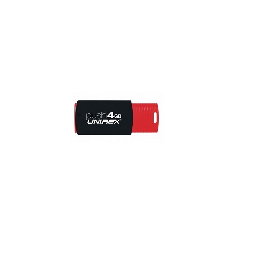 Unirex USFP-204 BLACK 4GB Push USB 2.0 Flash Drive