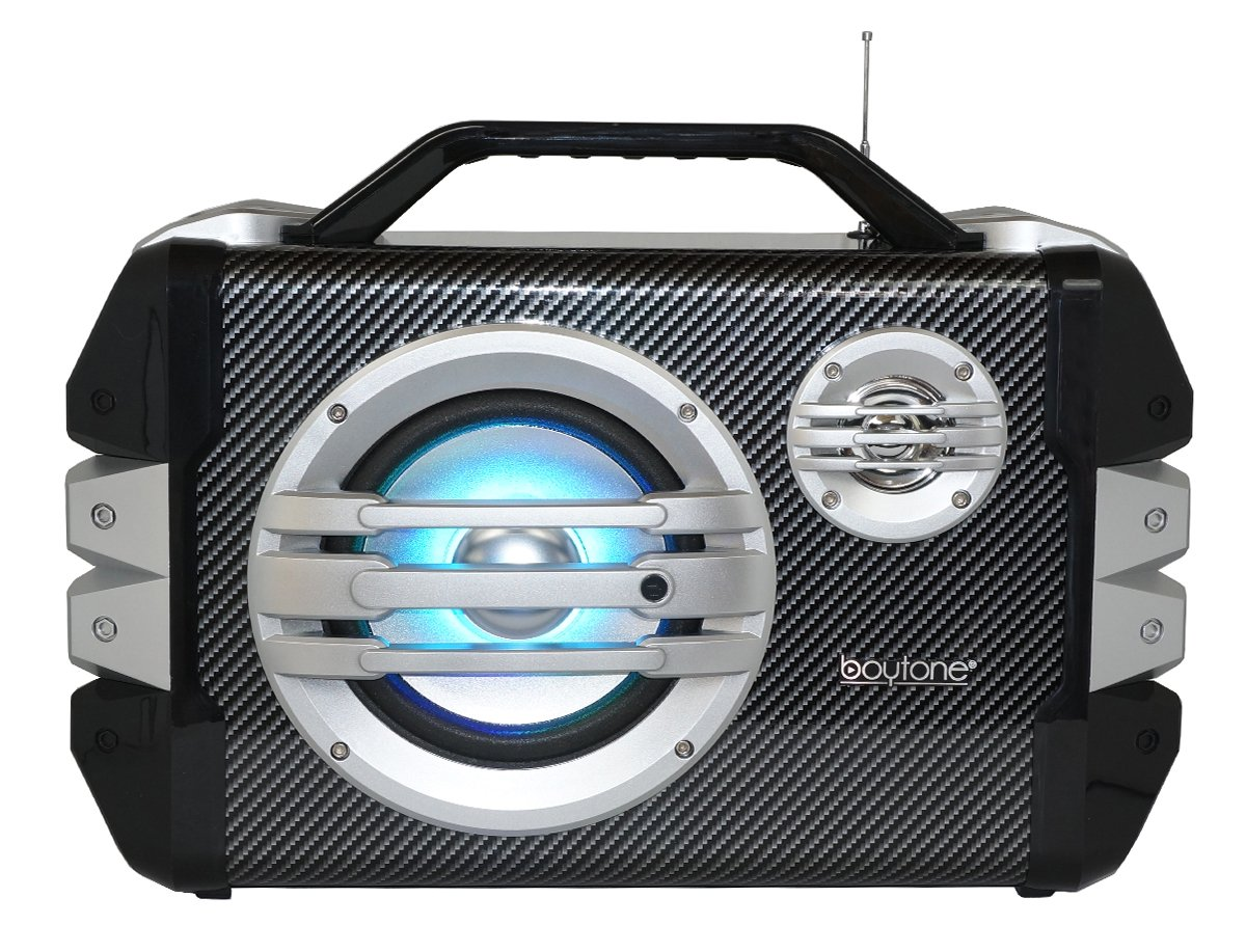 Boytone BT-51M Portable Audio karaoke Bluetooth PA Speaker System with Microphone, F